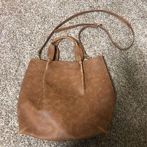 Brown Merona Tote Bag - Gently Used
